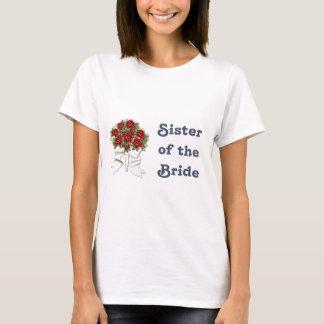 Boda del pingüino - novia - camiseta de la hermana