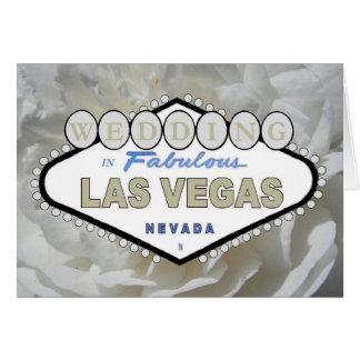 BODA del rosa blanco en Las Vegas fabuloso Tarjeta De Felicitación