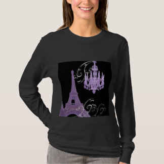 Boda del vintage de la lámpara de la torre Eiffel Camiseta