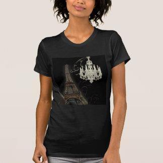 Boda del vintage de la lámpara de la torre Eiffel Camisetas