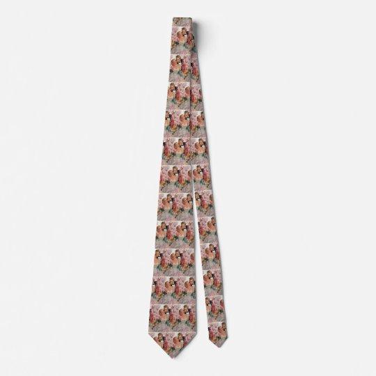 Boda del vintage, novia retra y recienes casados corbata personalizada