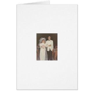 Boda del vintage tarjeta de felicitación