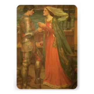 Boda del vintage, Tristan e Isolda, Waterhouse Invitación