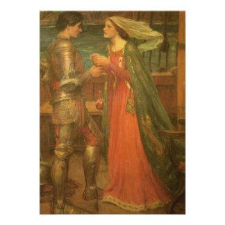 Boda del vintage, Tristan e Isolda, Waterhouse Invitacion Personalizada