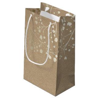 Boda elegante de la respiración del bebé del oro bolsa de regalo pequeña