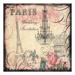 Boda elegante de la torre Eiffel y de la lámpara Comunicado