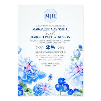 Boda elegante del jardín del vintage floral de la invitación 12,7 x 17,8 cm