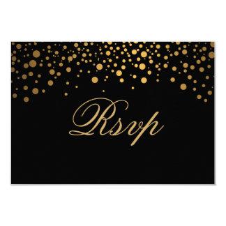 Boda elegante del punto del oro del confeti de invitación 8,9 x 12,7 cm