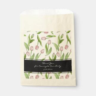 Boda elegante elegante floral de Patten del Bolsa De Papel