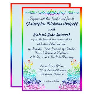 Boda elegante elegante gay del orgullo del arco invitación 12,7 x 17,8 cm