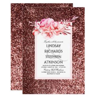 Boda elegante fabuloso del vintage del brillo invitación 12,7 x 17,8 cm