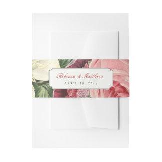 Boda elegante floral botánico del vintage cintas para invitaciones