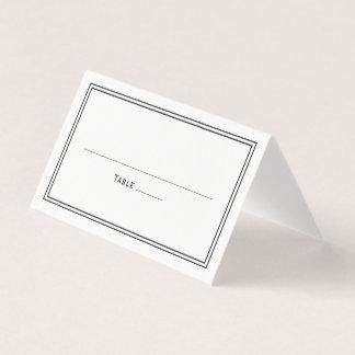 Boda elegante simple con clase elegante tarjeta de asiento