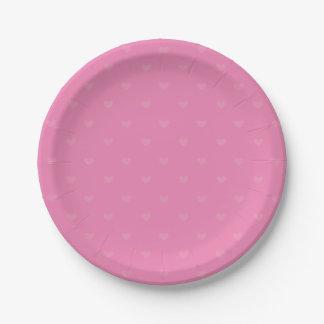 Boda/fiesta del amor del corazón de las rosas plato de papel