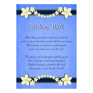 Boda floral azul rústico que desea tarjetas bien plantilla de tarjeta de visita