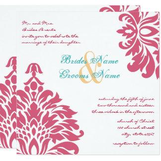 Boda floral colorido de la primavera invitación 13,3 cm x 13,3cm