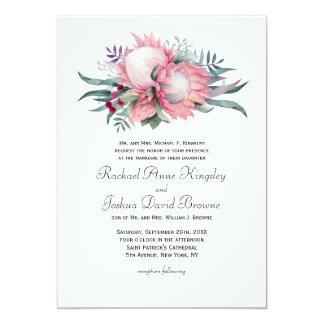 Boda floral de la fantasía del Protea Invitación 12,7 X 17,8 Cm