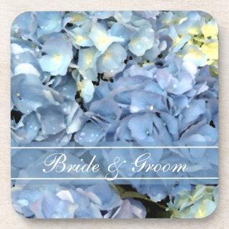 Boda floral del Hydrangea azul Portavasos
