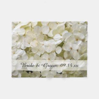 Boda floral del Hydrangea blanco Manta Polar
