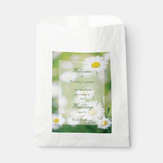 Boda floral del verano de la flor de las bolsa de papel