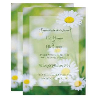Boda floral del verano de la flor de las invitación 12,7 x 17,8 cm