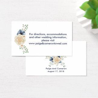 Boda floral del Web site del jardín de los azules Tarjeta De Negocios
