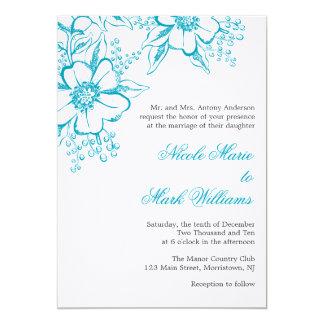 Boda floral elegante de la prensa de copiar anuncio personalizado