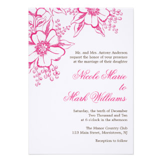 Boda floral elegante de la prensa de copiar comunicado