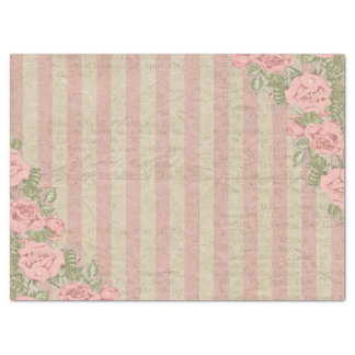 Boda floral rayado de la moda lamentable papel de seda