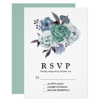 Boda floral romántico elegante de la primavera de invitación 8,9 x 12,7 cm