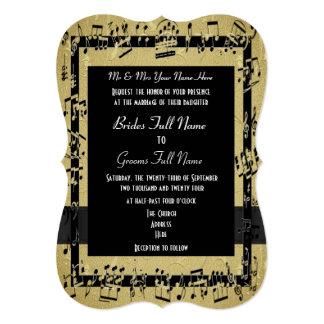 Boda formal elegante de oro elegante invitación 12,7 x 17,8 cm