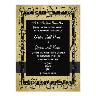 Boda formal elegante de oro elegante invitación 16,5 x 22,2 cm