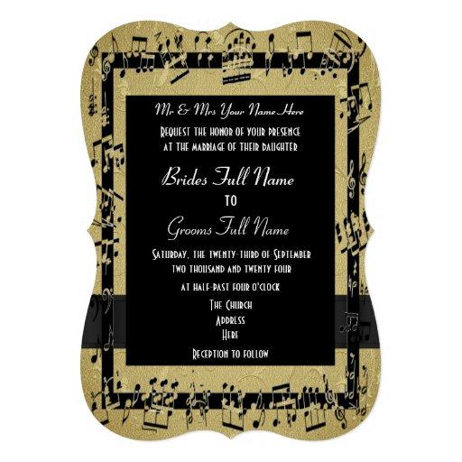 Boda formal elegante de oro elegante invitaciones personalizada