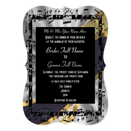 Boda formal elegante del oro de plata invitacion personal