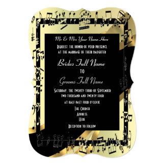 Boda formal elegante del oro elegante comunicados personales