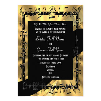 Boda formal elegante del oro elegante invitación personalizada