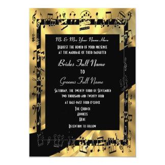 Boda formal elegante del oro elegante invitación 12,7 x 17,8 cm