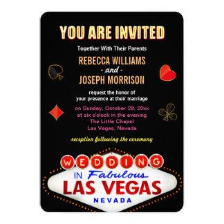 Boda formal en póker fabuloso de la muestra de Las Invitación 12,7 X 17,8 Cm