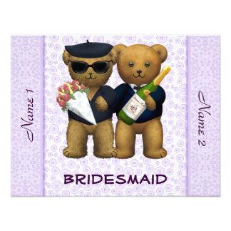 Boda gay - dama de honor - lila de los osos de pel anuncio personalizado