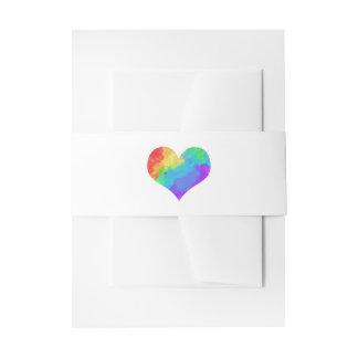 Boda gay lesbiano del corazón de la pintura del cintas para invitaciones