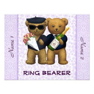 Boda gay - portador de anillo - lila de los osos d anuncio