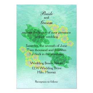 Boda hawaiano de Honu Invitacion Personal