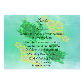 Boda hawaiano de Honu Invitación 12,7 X 17,8 Cm
