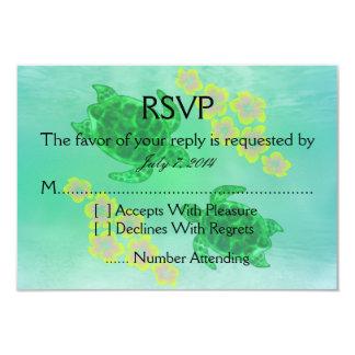 Boda hawaiano de Honu Invitación 8,9 X 12,7 Cm