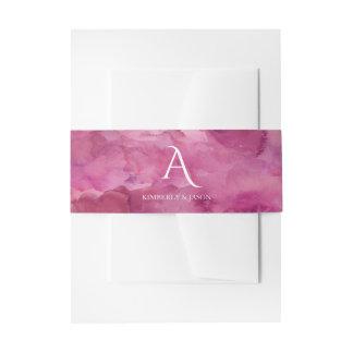 Boda intrépido del monograma de la nube magenta cintas para invitaciones