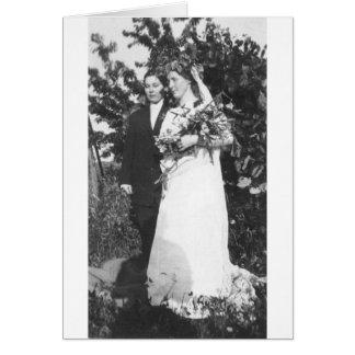 Boda lesbiano circa 1920 felicitacion