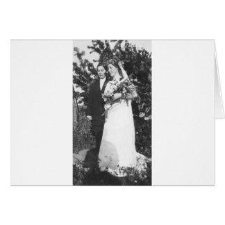 Boda lesbiano circa 1920 tarjeta de felicitación