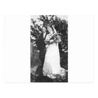 Boda lesbiano circa 1920 postal