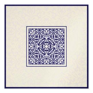 Boda metálico árabe del compromiso del ornamento invitación 13,3 cm x 13,3cm
