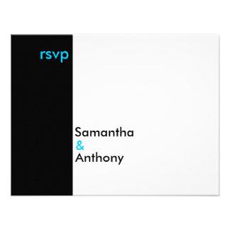 Boda minimalista blanco y negro que hace juego RSV Comunicados
